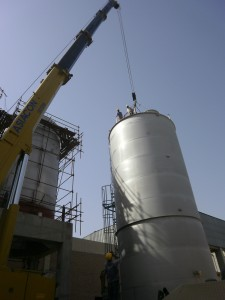 Erection at IFL SS Tanks.